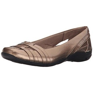 LifeStride Womens Darcine Patent Round Toe Casual Shoes - 10 wide (c,d,w)