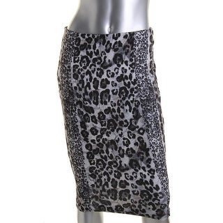Zara W&B Collection Womens Animal Print Knee-Length Pencil Skirt - S