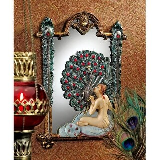 Design Toscano Peacock Dreams Mirrored Wall Sculpture