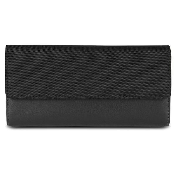 Travelon SafeID Accent Flap Clutch Wallet, Black