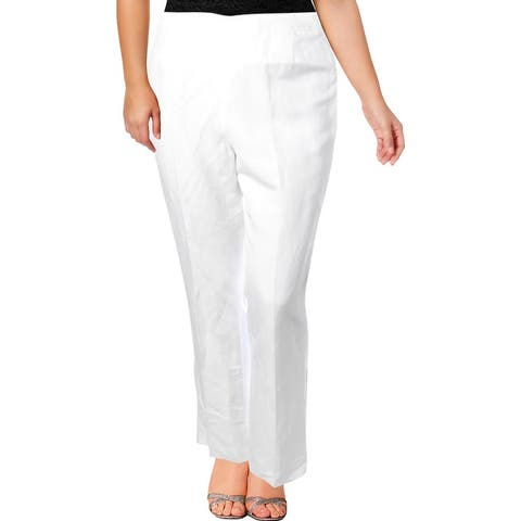 Kasper Womens Audrey Dress Pants Linen Business