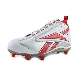 Reebok NFL Thorpe II Mid D2 Men Round Toe Synthetic Silver Cleats