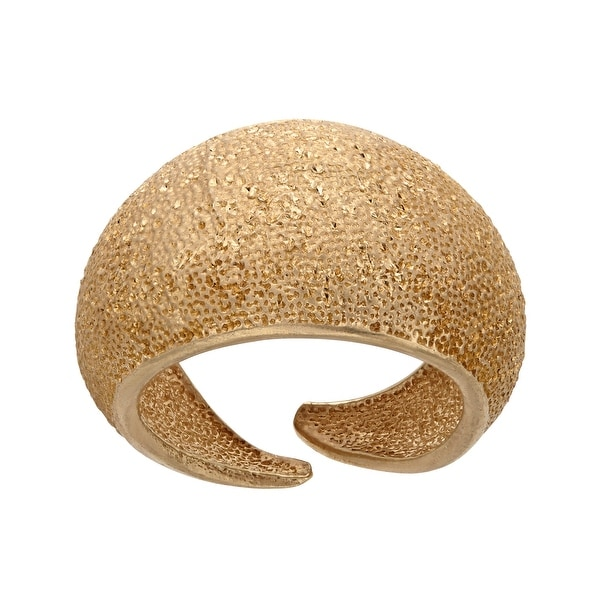 Dome Ring in 24K Gold-Plated Sterling Silver