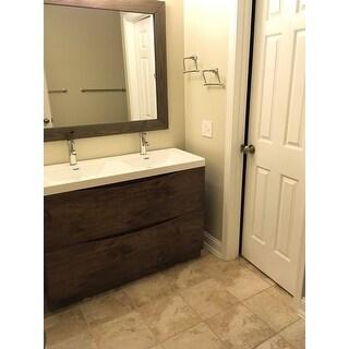 Shop Eviva Smile 48 Inch Rosewood Modern Bathroom Vanity