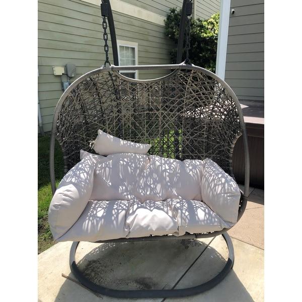 Shop Brampton Espresso Cocoon Hanging Swing Chair Overstock 21422385