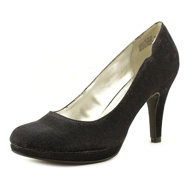 Andrew Geller Garey Women Round Toe Canvas Black Heels