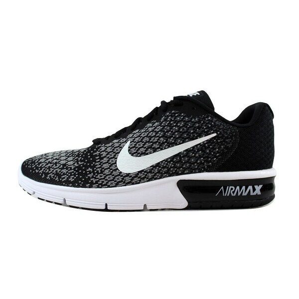 Shop Nike Men's Air Max Sequent 2 BlackWhite Dark Grey