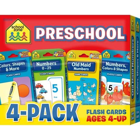 Preschool Flash Cards 4 Pk