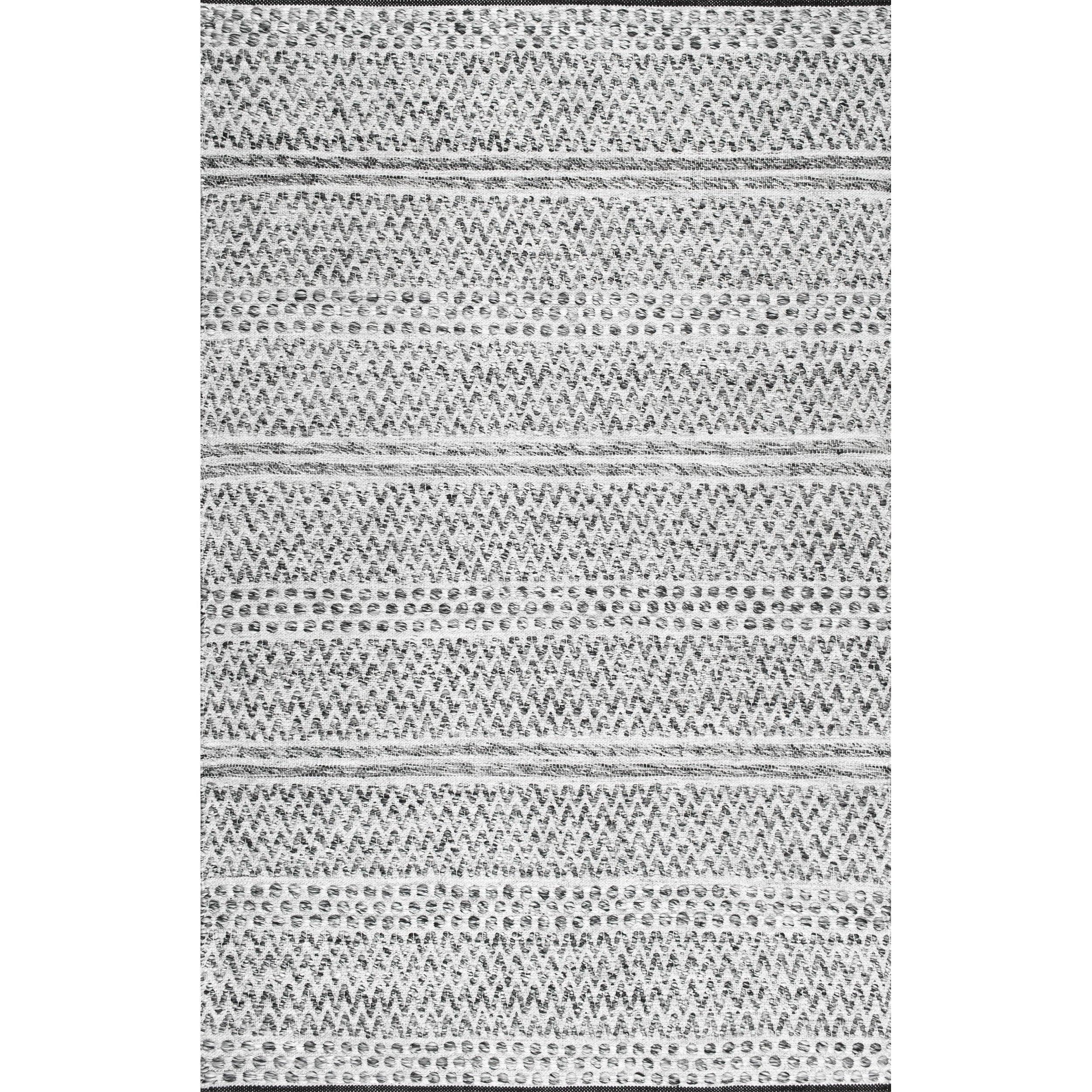 Silver Flat-Weave Polypropylene Indoor//Outdoor Rug RugsBeyond Sisal Look