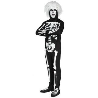 Mens SNL Beat Boy Skeleton Halloween Costume - standard - one size