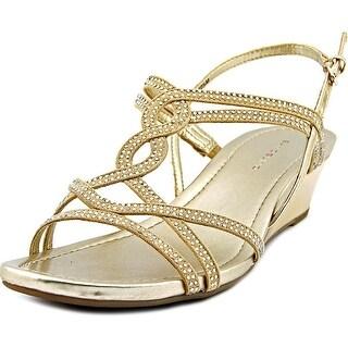 Bandolino Gilnora Women Open Toe Canvas Wedge Sandal