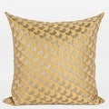"""G Home Collection Luxury Yellow Arrows Pattern Jacquard Pillow 20""""X20"""" - Thumbnail 0"""