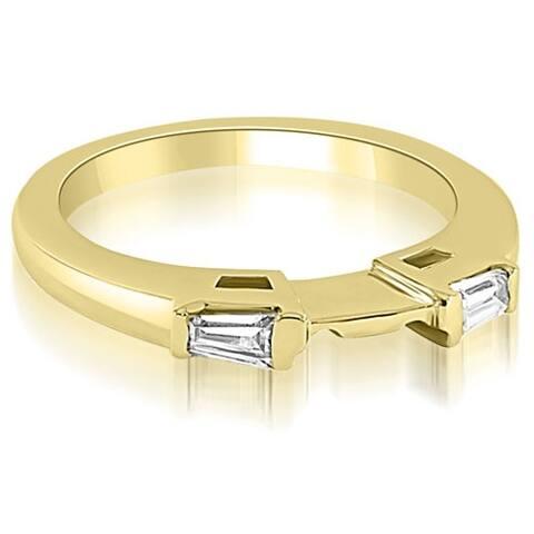 0.15 cttw. 14K Yellow Gold Baguette Cut Diamond Wedding Band