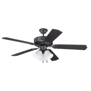 Craftmade ceiling fans for less overstock craftmade k11113 pro builder 205 52 5 blade indoor ceiling fan with light kit and mozeypictures Choice Image