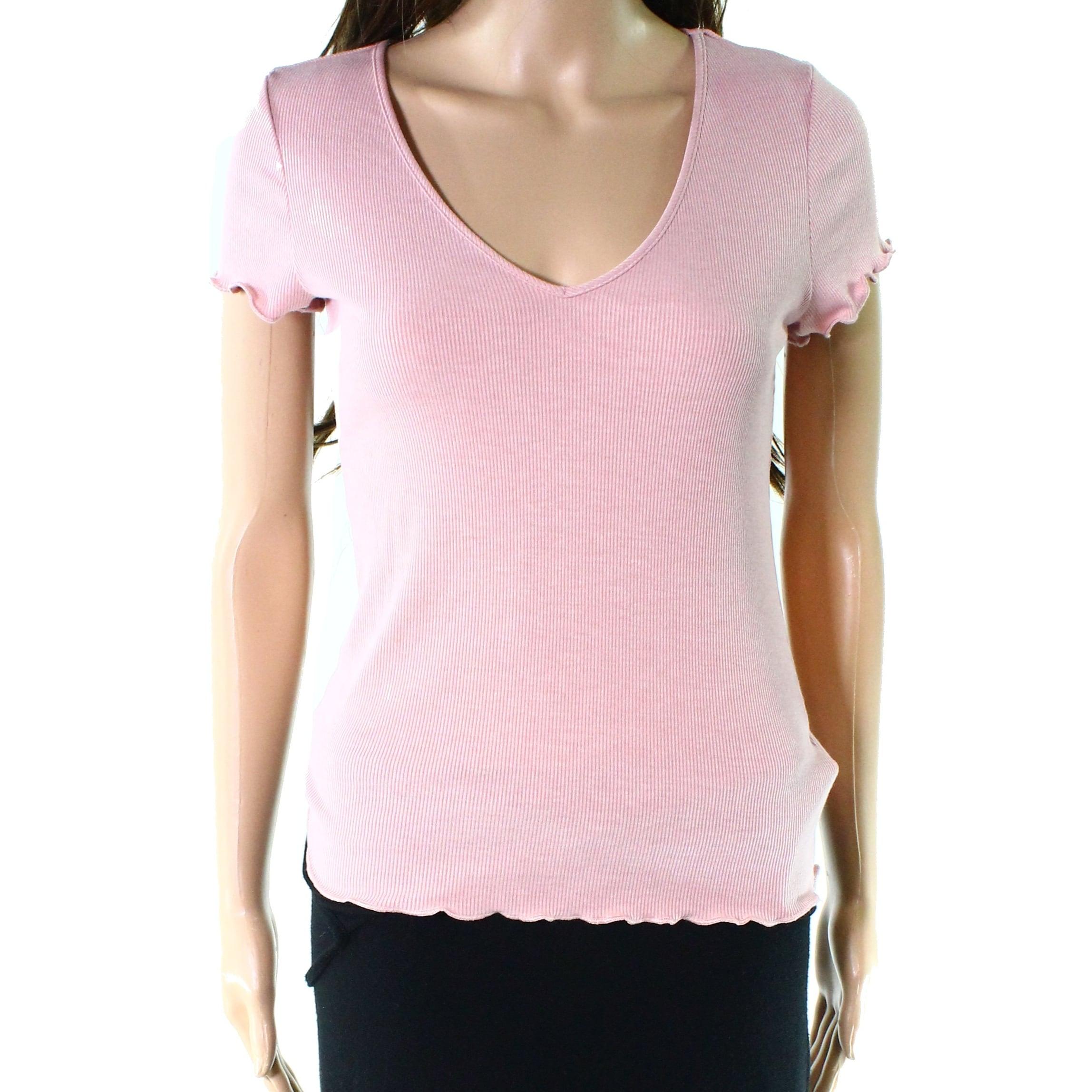 Womens Nike Fusia Pink V Neck Shirt Top Medium M Activewear Women's Clothing