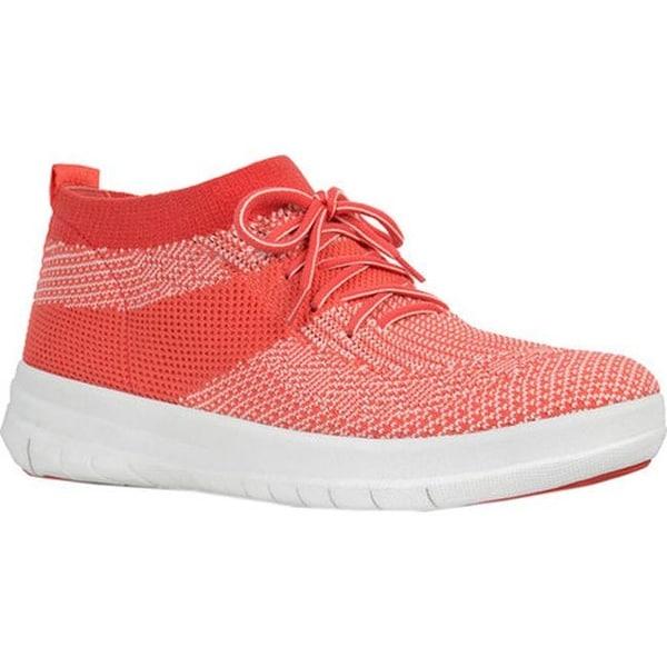 8cfdcfc9661e Shop FitFlop Women s F-Sporty Uberknit High Top Sneaker Hot Coral ...