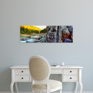 Easy Art Prints Panoramic Image 'River flowing through rocks, Black River, St. Francois County, Missouri' Canvas Art