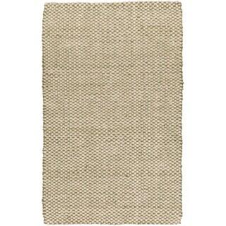 Hand-Woven Alaya Stripe Pattern Jute Area Rug
