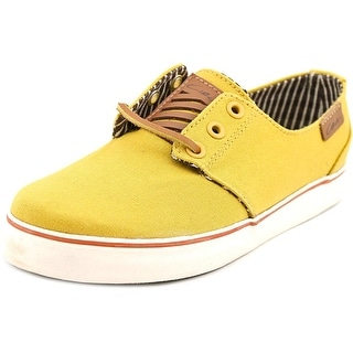 C1rca Crip Youth Round Toe Canvas Gold Skate Shoe