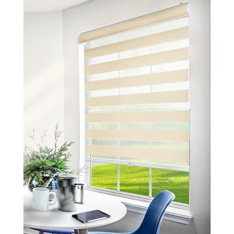 CHICOLOGY Everyday Cordless Light Filtering Zebra Window Shades