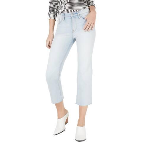 Hudson Womens Stella Cropped Jeans Denim Mid Rise - Wake