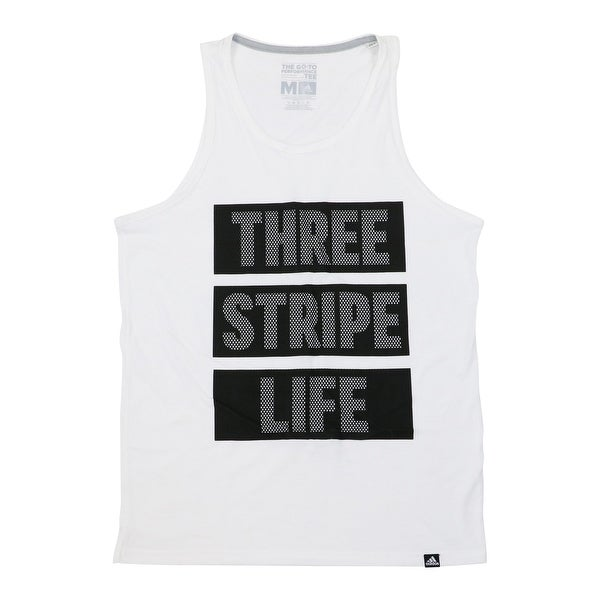 c767bd76cf361 Shop Adidas Mens Three Stripe Life Graphic Tee Tank Top  25 - Free Shipping  On Orders Over  45 - Overstock - 22315577