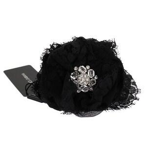 Dolce & Gabbana Dolce & Gabbana Black Floral Lace Crystal Hair Claw - One size