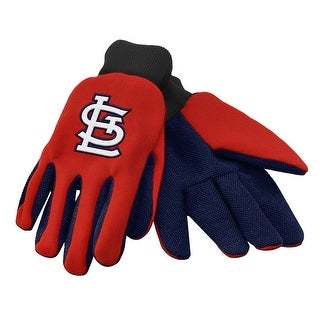 Officially Licensed MLB No Slip Gardening / Work / Utility Glove With Team Logo Baseball St. Louis Cardinals