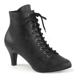 Pleaser Pink Label Women's Divine 1020 Ankle Boot Black Faux Leather