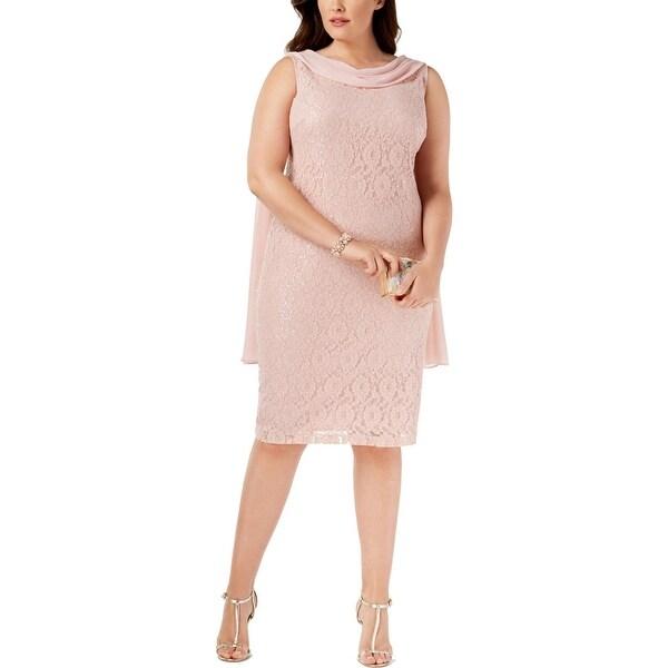 SLNY Womens Plus Party Dress Sleeveless Knee-Length - 20W
