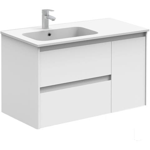 """WS Bath Collections Ambra 90 Ambra 35-3/5"""" Wall Mounted / Floating"""