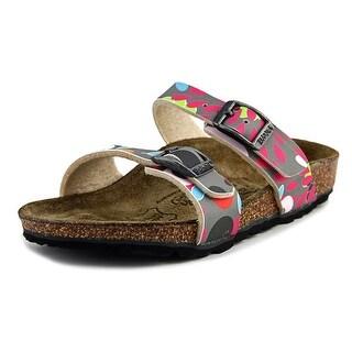 Birki's Tahiti Toddler N Open Toe Synthetic Multi Color Slides Sandal