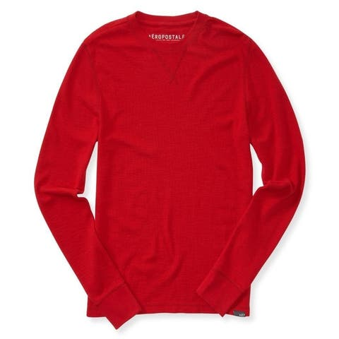 Aeropostale Mens Solid Thermal Sweater