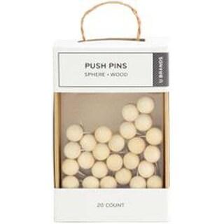 Oak; 20/Pkg - Push Pins Sphere