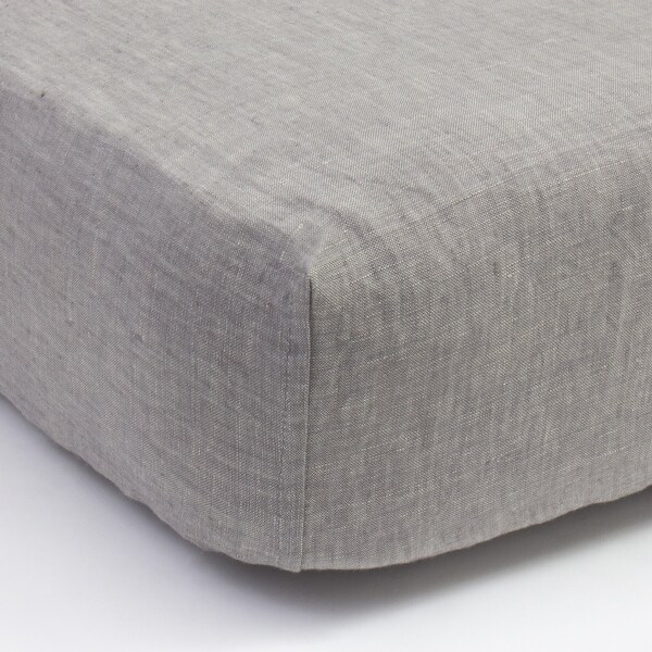 Cottage Home Grey Chambray Linen Box Spring Cover. Opens flyout.