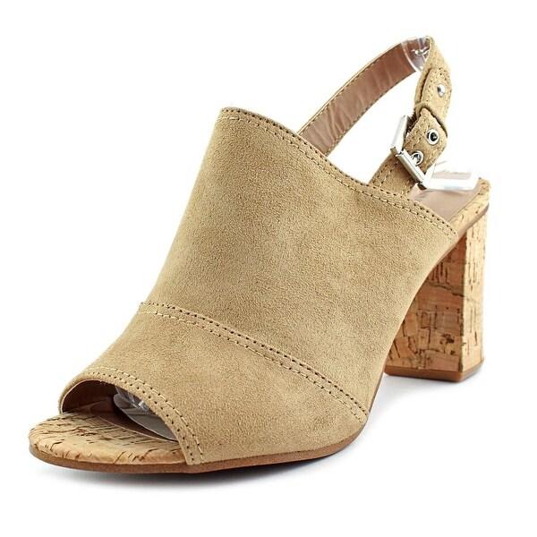 Nine West Milyonarol 1 Women Open-Toe Canvas Tan Slingback Heel