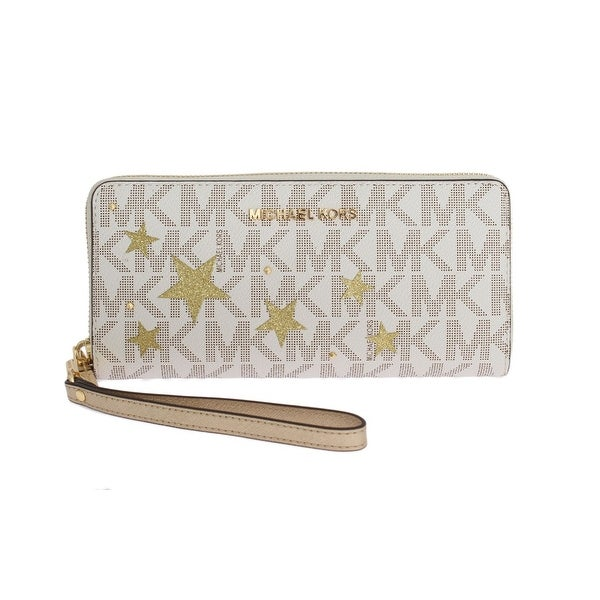 6f0169acbdb4 Michael kors White ILLUSTRATIONS Travel Continental Wallet - One size