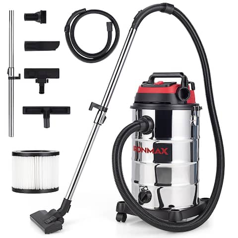 Ironmax 6 HP 9 Gallon Shop Vacuum Cleaner w/ Dry & Wet & Blowing - 14.5'' x 14.5'' x 27''