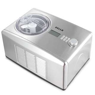 Della 1.6 Quart Ice Cream Maker Machine and Fresh Frozen Yogurt  Sorbet with Stainless Steel and Display