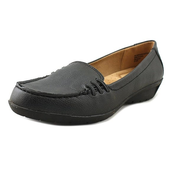 Studio Works Vivian Women Round Toe Synthetic Black Loafer