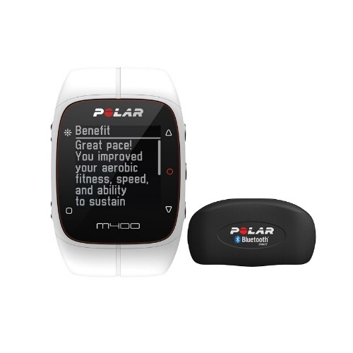Polar M400 Sports Watch With GPS And HRM - White Sports Watch With GPS And Heart Rate Monitor