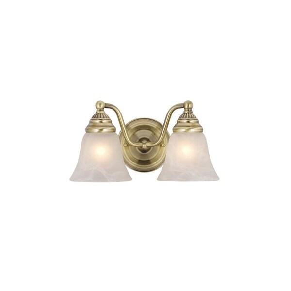 """Vaxcel Lighting VL35122 Standford 2-Light Bathroom Vanity Light - 10.38"""" Wide"""