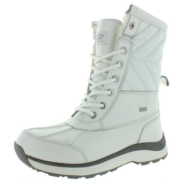 Ugg Womens Adirondack II Winter Boots Lather Mid-Calf - White - 5 Medium (B,M). Opens flyout.