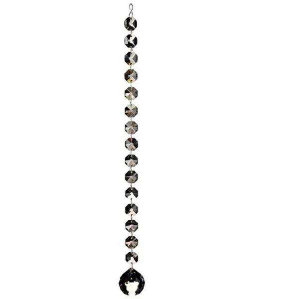 "18"" Seasons of Elegance Smokey Gray Jewel Chain Drop Christmas Dangle Ornament"