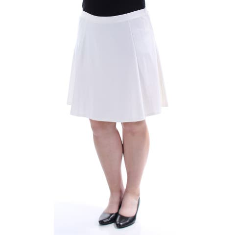 BAR III Womens White Above The Knee A-Line Skirt Size XXL