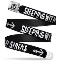 Sleeping With Sirens W Logo Full Color Black White Seatbelt Belt Seatbelt Belt