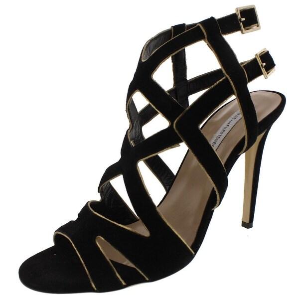 Diane Von Furstenberg Womens Valene Dress Sandals Contrast Trim
