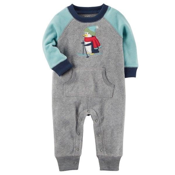 f25d85c7b Shop Carter s Baby Boys  Fleece Colorblock Jumpsuit