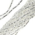 Czech Seed Beads 11/0 Crystal Silver Foil Lined - Thumbnail 0