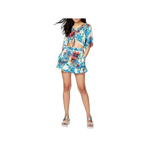 bb6fff15e653 Shop Rachel Rachel Roy Womens Romper Ruched Floral Print - On Sale ...